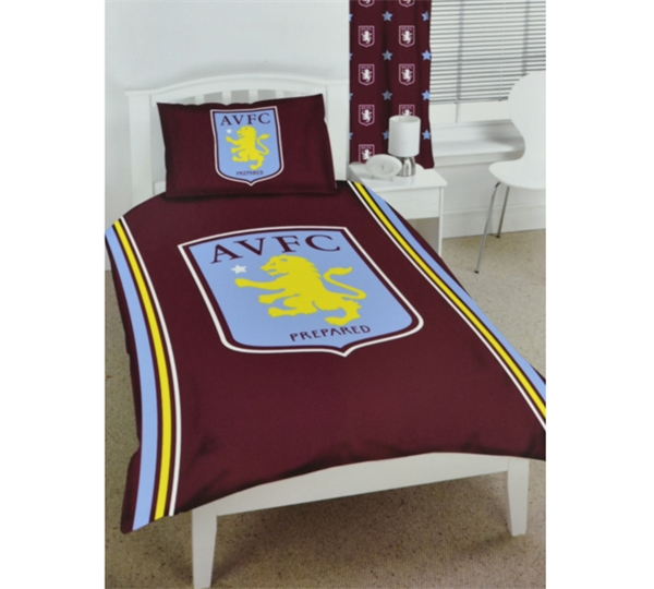 Aston Villa Football Club Bedding Single Size Duvet Cover Set
