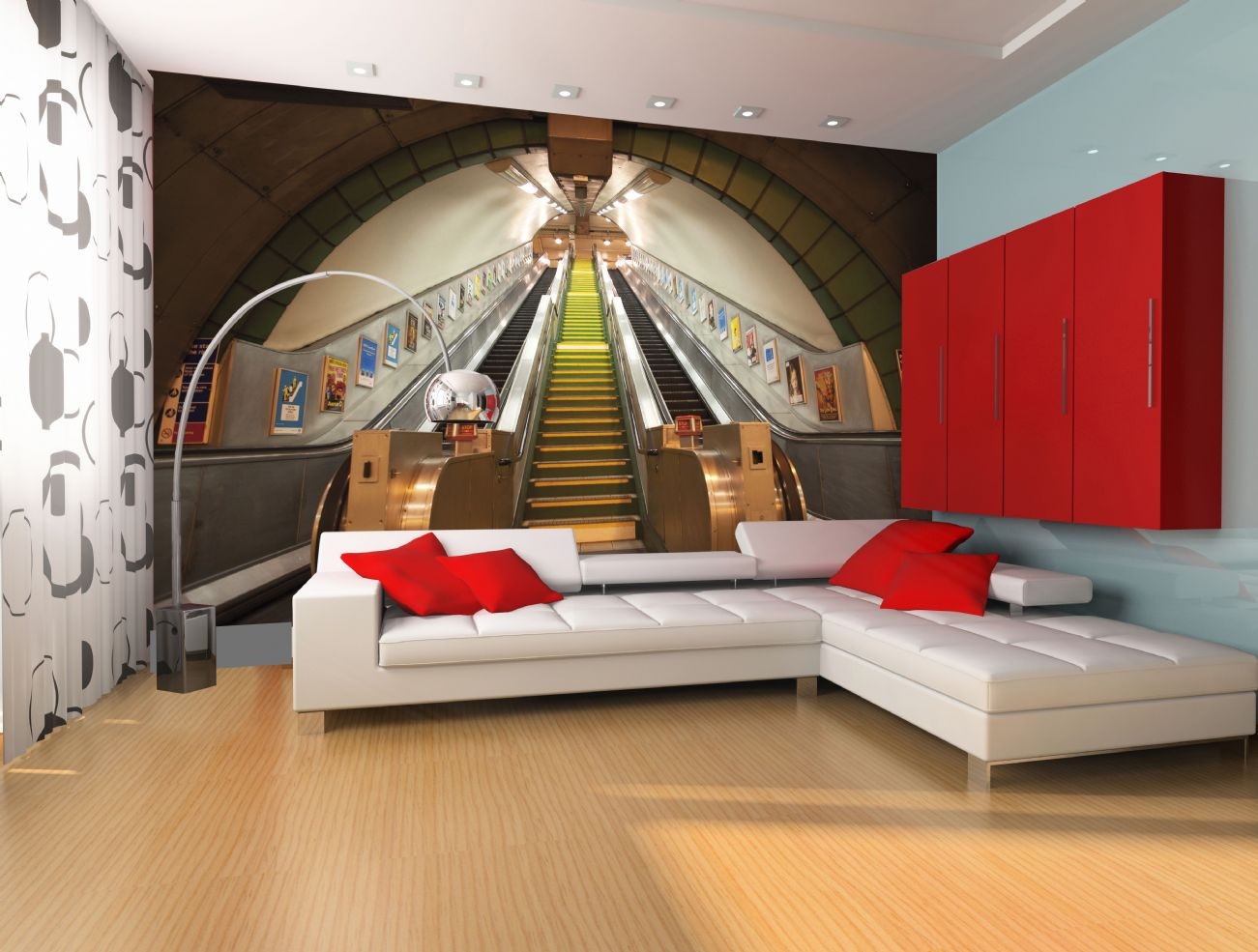 Giant wallpaper wall subway train station london for 3d interior wall murals