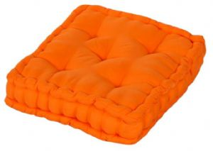 Plain orange colour microfibre dining garden chair booster cushion seat pad - Orange kitchen chair cushions ...