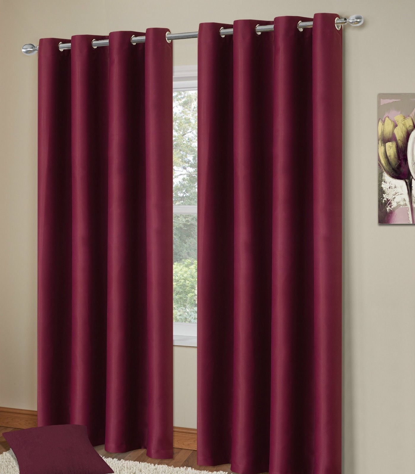 thermal blackout bedroom livingroom readymade curtains ringtop eyelets