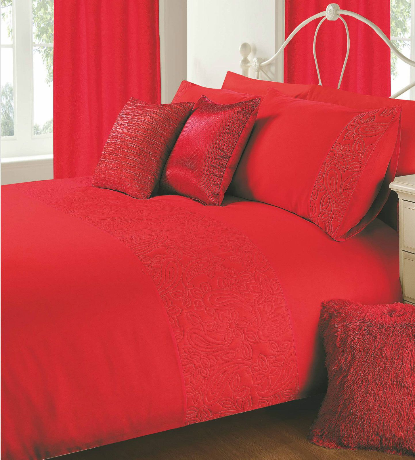 cove place bed r reversible red black cover bedding linen duvet