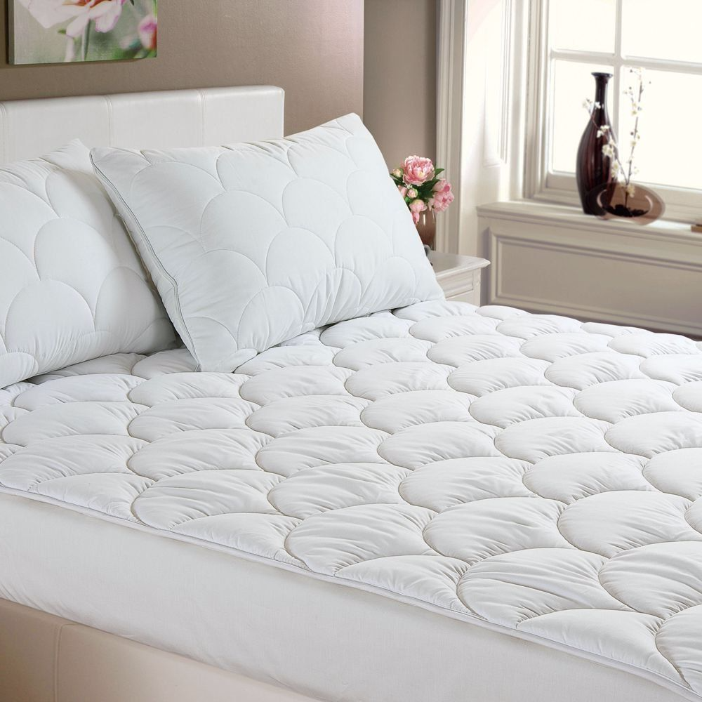 new style e05ea ff8db Anti Allergy Mattress Topper Quilted Cloud Filled Mattress Protector Hotel  Quality
