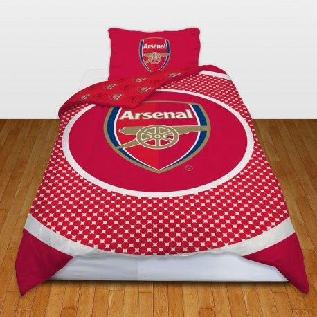 ARSENAL FOOTBALL CLUB SINGLE SIZE DUVET COVER BEDDING SET