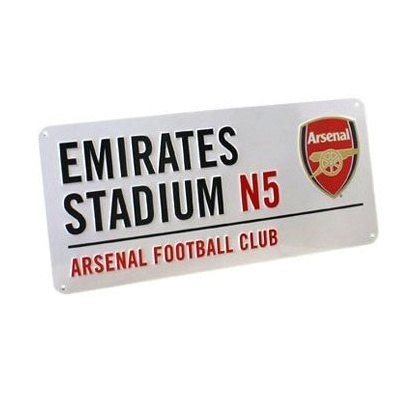 ARSENAL GUNNERS BEDROOM WALL DOOR STREET SIGN FOOTBALL