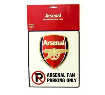 ARSENAL GUNNERS BEDROOM WALL NO PARKING SIGN FOOTBALL