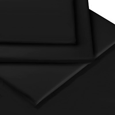 BLACK COLOUR PERCALE MATTRESS FLAT SHEET