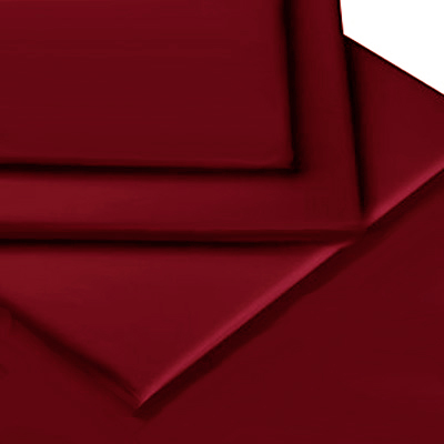BURGUNDY COLOUR PERCALE MATTRESS FLAT SHEET