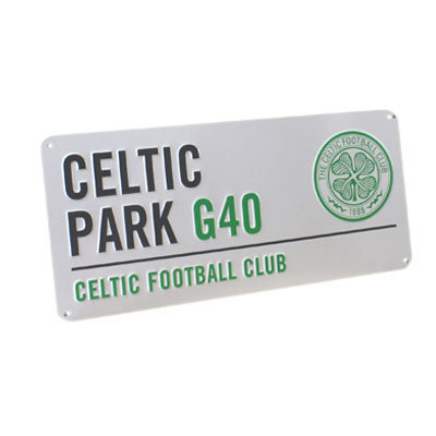 CELTIC FC BEDROOM WALL DOOR STREET METAL SIGN FOOTBALL