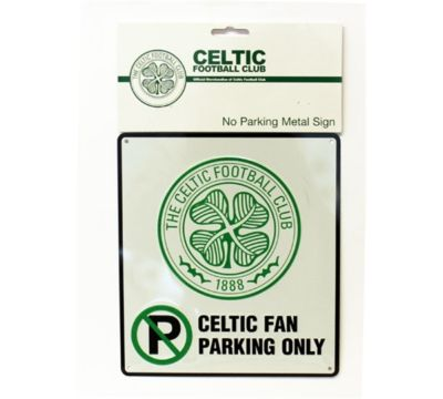 CELTIC FC BEDROOM WALL NO PARKING METAL SIGN FOOTBALL