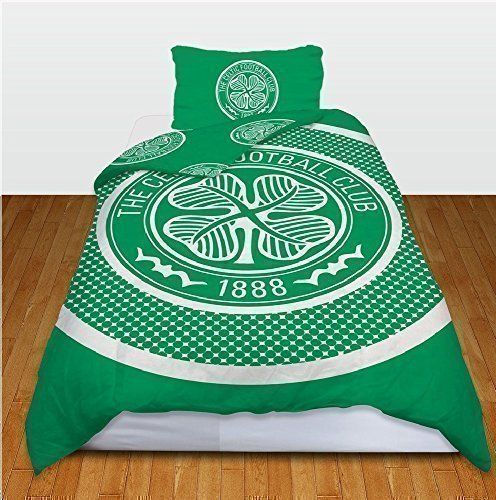 CELTIC FOOTBALL CLUB SINGLE SIZE DUVET QUILT COVER BEDDING SET