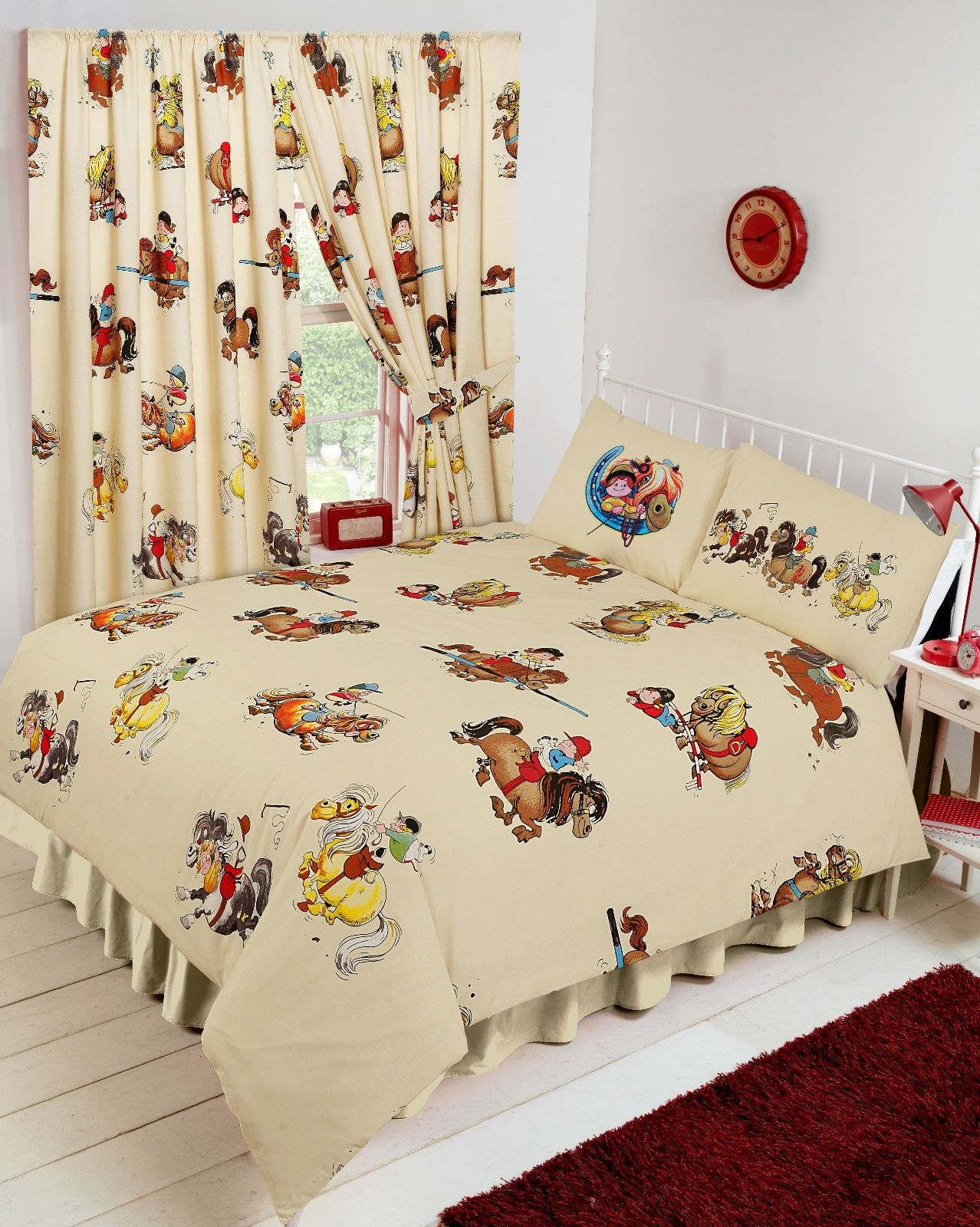 Childrens Thelwell Cartoon Comic Horses Poines Bedding