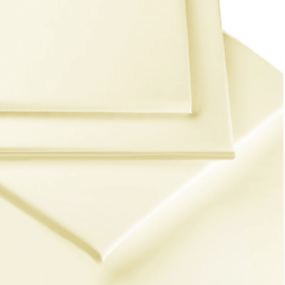 CREAM COLOUR PERCALE MATTRESS FLAT SHEET