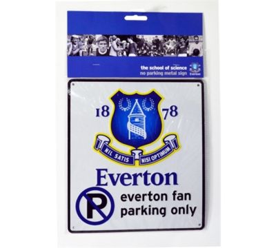 EVERTON FC BEDROOM WALL NO PARKING  METAL SIGN FOOTBALL