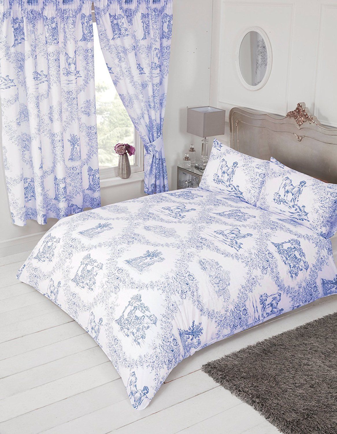 French Country Design Toile De Jouy Bedding Duvet Quilt