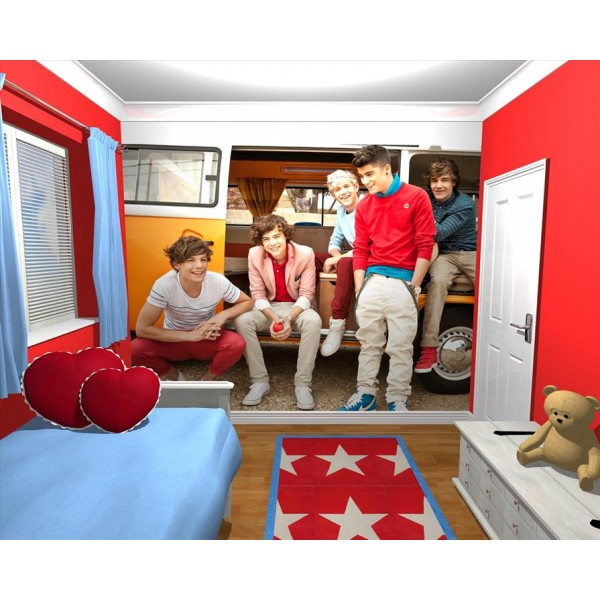 GIANT WALLPAPER WALL MURAL 1D ONE DIRECTION BEDROOM THEMED ...