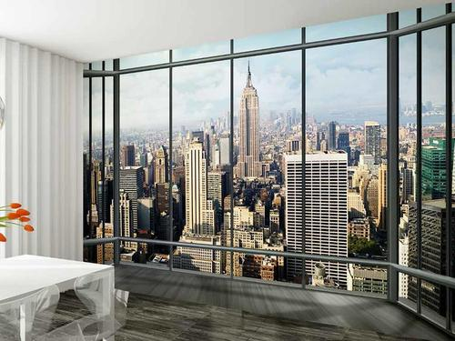 GIANT WALLPAPER WALL MURAL NEW YORK SKYLINE BUILDING MODERN THEME DESIGN