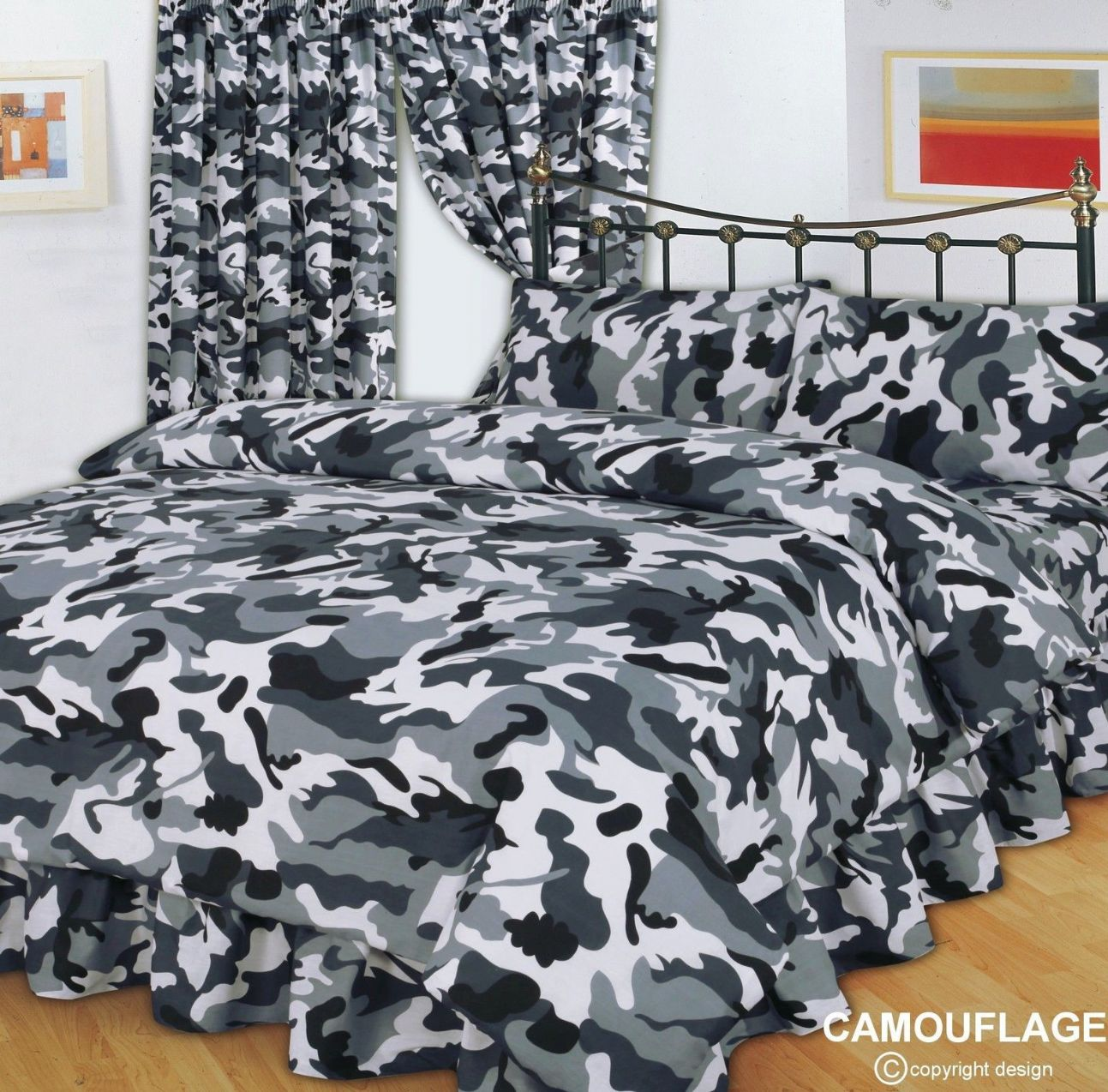 Grey Amp Black Army Military Camouflage Design Reversible