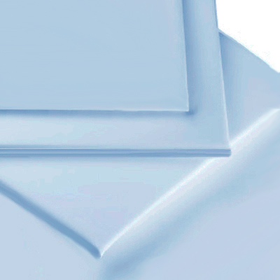 LIGHT BLUE COLOUR PERCALE MATTRESS FLAT SHEET