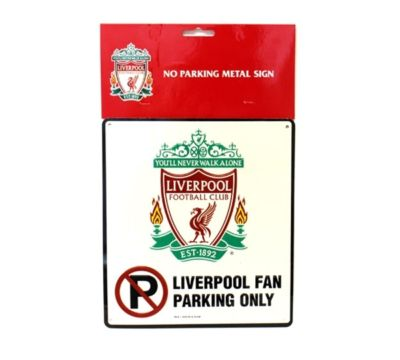 LIVERPOOL FC BEDROOM WALL DOOR NO PARKING SIGN FOOTBALL