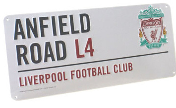 LIVERPOOL FC BEDROOM WALL DOOR STREET SIGN FOOTBALL NEW
