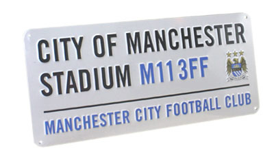 MANCHESTER CITY BEDROOM WALL DOOR STREET SIGN FOOTBALL
