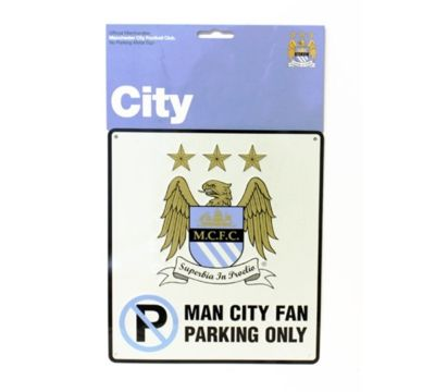 MANCHESTER CITY BEDROOM WALL NO PARKING SIGN FOOTBALL