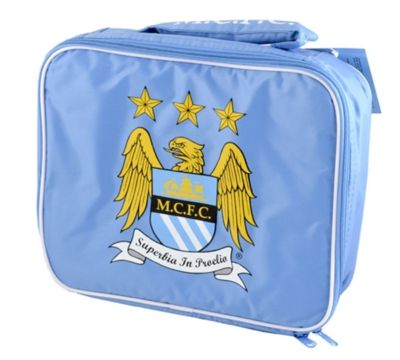 MANCHESTER CITY FOOTBALL INSULATED SCHOOL LUNCH BAG BOX