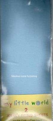 NURSERY 2 JERSEY COTTON FITTED SHEETS PRAM MOSES BLUE