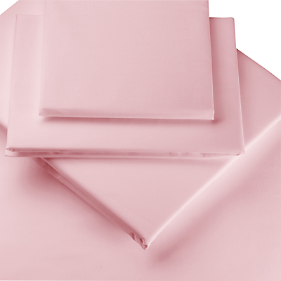 PINK COLOUR PERCALE HOUSEWIFE PAIR OF PILLOWCASES