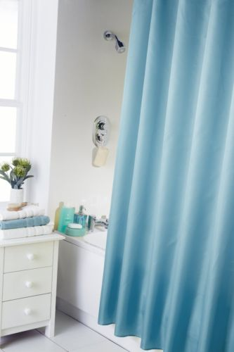 PLAIN TEAL BLUE COLOUR  WATERPROOF SHOWER CURTAIN