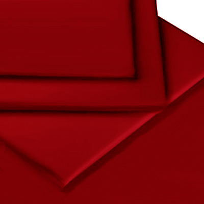 RED COLOUR PERCALE MATTRESS FLAT SHEET