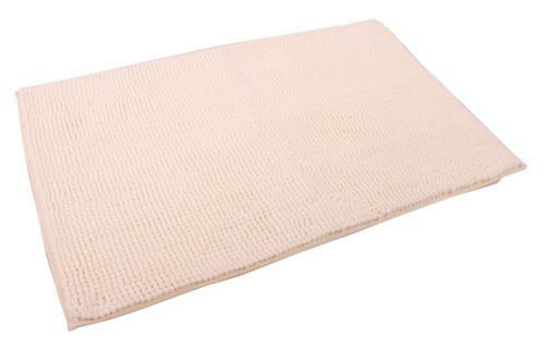 SHAGGY PILE LUXURY BATHMAT NON-SLIP PLAIN CREAM COLOUR