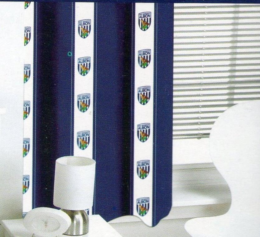WEST BROMWICH ALBION BEDROOM READY-MADE CURTAINS