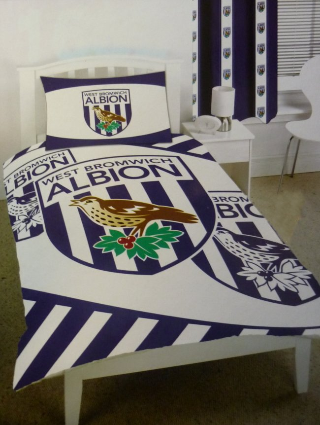 West Bromwich Albion Bedroom Ready Made Curtains