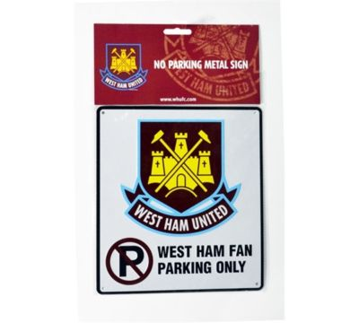 WEST HAM BEDROOM WALL NO PARKING METAL SIGN FOOTBALL
