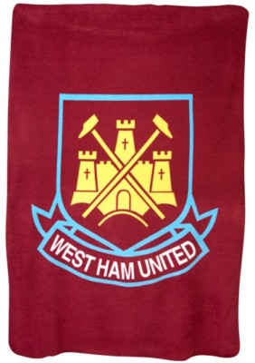 West Ham FC Hammers Fleece Bed Sofa Throw Blanket Large