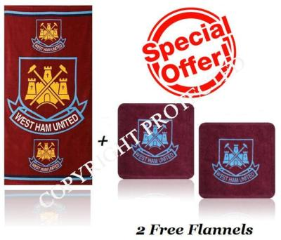 WEST HAM FOOTBALL BEACH TOWEL