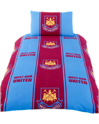 WEST HAM UNITED SINGLE SIZE DUVET COVER SET
